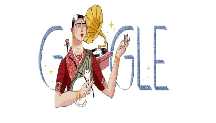 ಪ್ರಸಿದ್ಧ ಸಂಗೀತಗಾರ್ತಿ ಗೌಹರ್ ಜಾನ್ ಜನ್ಮದಿನಕ್ಕೆ ಗೂಗಲ್ ಡೂಡಲ್ ಗೌರವ