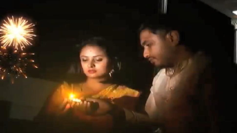 VIDEO: ಪತಿಯೊಂದಿಗೆ ಮೊದಲ ದೀಪಾವಳಿ ಆಚರಿಸಿದ ನಟಿ ಅಮೂಲ್ಯ!