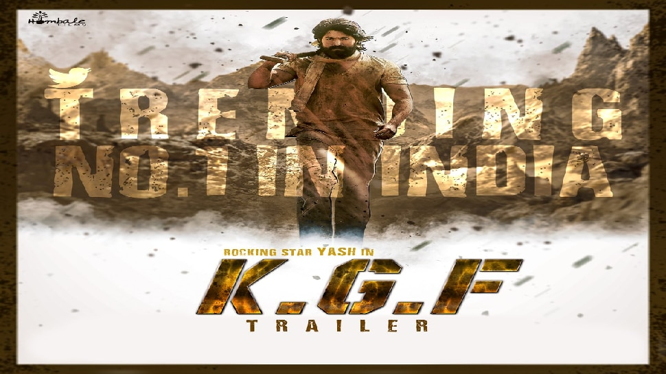 ಇಂಡಿಯಾದಲ್ಲೇ No.1 ಸ್ಥಾನದಲ್ಲಿ#KGFTrailer! ಎಲ್ಲೆಡೆ ಯಶ್ 'ರಾಕಿಂಗ್'...