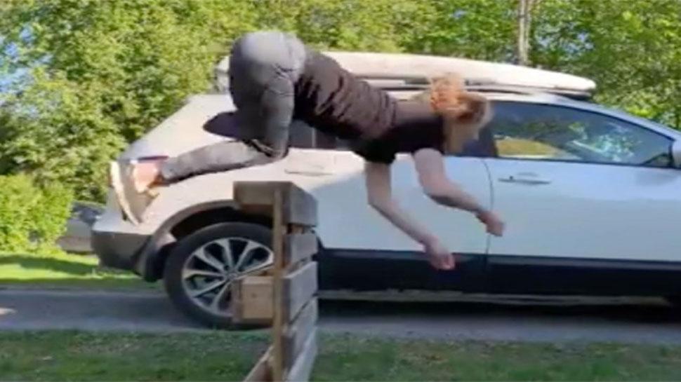 VIDEO: ಕುದುರೆಯಂತೆ ನೆಗೆಯುವ ಮಹಿಳೆ ನೋಡಿದ್ದೀರಾ..!