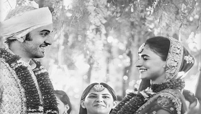 ರಣಬೀರ್ ಕಪೂರ್ ಮತ್ತು ಅಲಿಯಾ ಭಟ್ ಮದುವೆ ಪೋಟೋ ವೈರಲ್...!