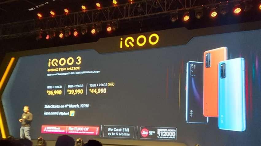 ಭಾರತದಲ್ಲಿ ಬಿಡುಗಡೆಯಾಯ್ತು iQOO 3 5G ಸ್ಮಾರ್ಟ್ ಫೋನ್, ಬೆಲೆ ಎಷ್ಟು?