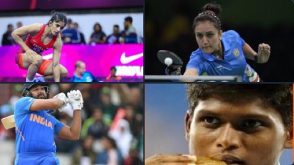 ಕ್ರಿಕೆಟರ್ ರೋಹಿತ್ ಶರ್ಮಾ ಸೇರಿ ಐವರು ಕ್ರೀಡಾಪಟುಗಳಿಗೆ ರಾಜೀವ್ ಗಾಂಧಿ ಖೇಲ್ ರತ್ನ ಪ್ರಶಸ್ತಿ