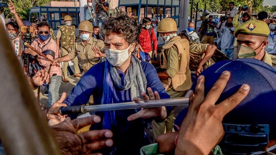 Video: ಕಾಂಗ್ರೆಸ್ ಪಕ್ಷದ ಕಾರ್ಯಕರ್ತರನ್ನು ಪೋಲಿಸ್ ಲಾಠಿಚಾರ್ಜ್ ನಿಂದ ರಕ್ಷಿಸಿದ ಪ್ರಿಯಾಂಕಾ ಗಾಂಧಿ