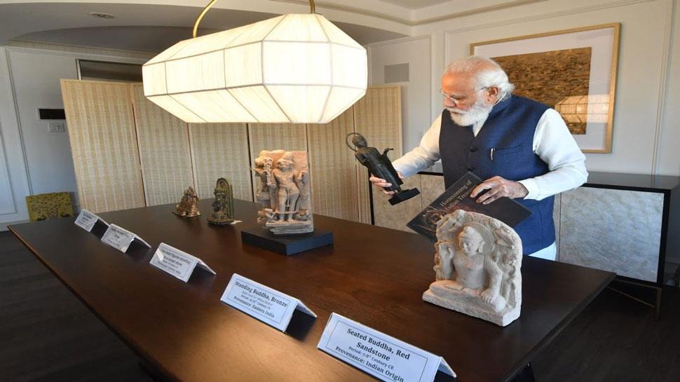 PM Modi US Tour: ನಟರಾಜ ವಿಗ್ರಹ ಸೇರಿ157 ಪುರಾತನ ಕಲಾಕೃತಿಗಳು ಭಾರತಕ್ಕೆ ಹಸ್ತಾಂತರ