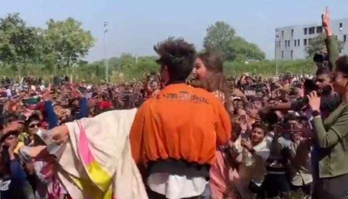 VIRAL VIDEO: ಸಾರ್ವಜನಿಕರ ಮಧ್ಯೆ ರೋಮಾನ್ಸ್ ಗೆ ಮುಂದಾದ ಸಾರಾ-ಕಾರ್ತಿಕ್
