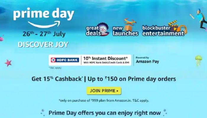 Amazon Prime Day Sale : ಭಾರೀ ಡಿಸ್ಕೌಂಟ್, ಕ್ಯಾಶ್ ಬ್ಯಾಕ್ ಜೊತೆ ಸಿಗಲಿದೆ ಬಹಳಷ್ಟು ಪ್ರಯೋಜನ