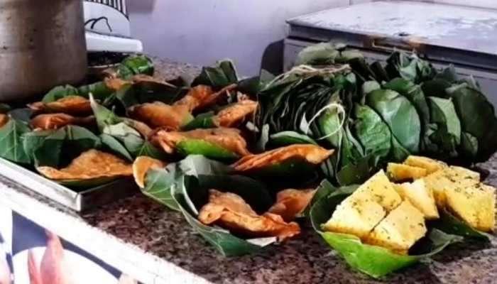 PHOTOS: ಪರಿಸರ ಸ್ನೇಹಿ ಕ್ರಮ, ಮಧ್ಯ ಪ್ರದೇಶದ ರೈಲ್ವೆ ನಿಲ್ದಾಣದಲ್ಲಿ ದೊನ್ನೆಯಲ್ಲಿ ಸಿಗುತ್ತೆ ಆಹಾರ