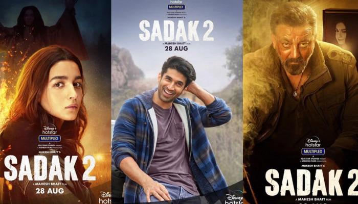 ಒಂದೇ ದಿನದಲ್ಲಿ ಬಿಡುಗಡೆಯಾದ 'Sadak-2' ಚಿತ್ರದ ಮೂರು ಜಬರ್ದಸ್ತ್ ಪೋಸ್ಟರ್ ಗಳು